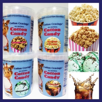 movie night cotton candy