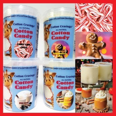 holiday flavored cotton candy