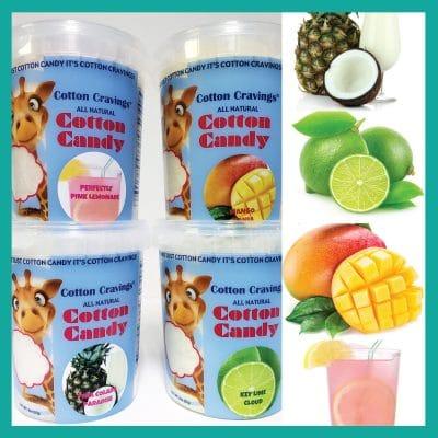 tropical flavors cotton candy
