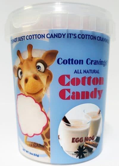 egg nog flavored cotton candy