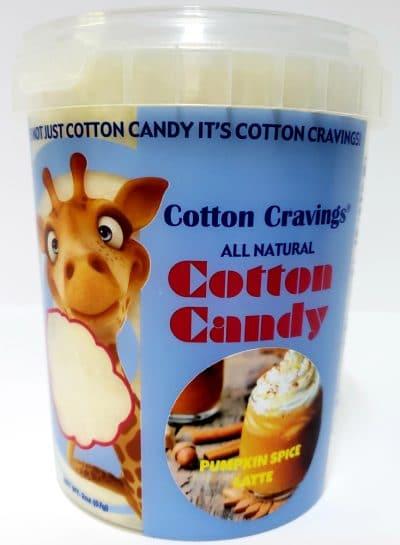 pumpkin spice flavored cotton candy